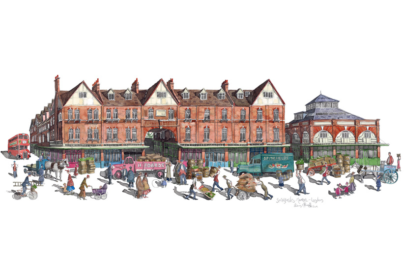 Painting of Spitalfields Market