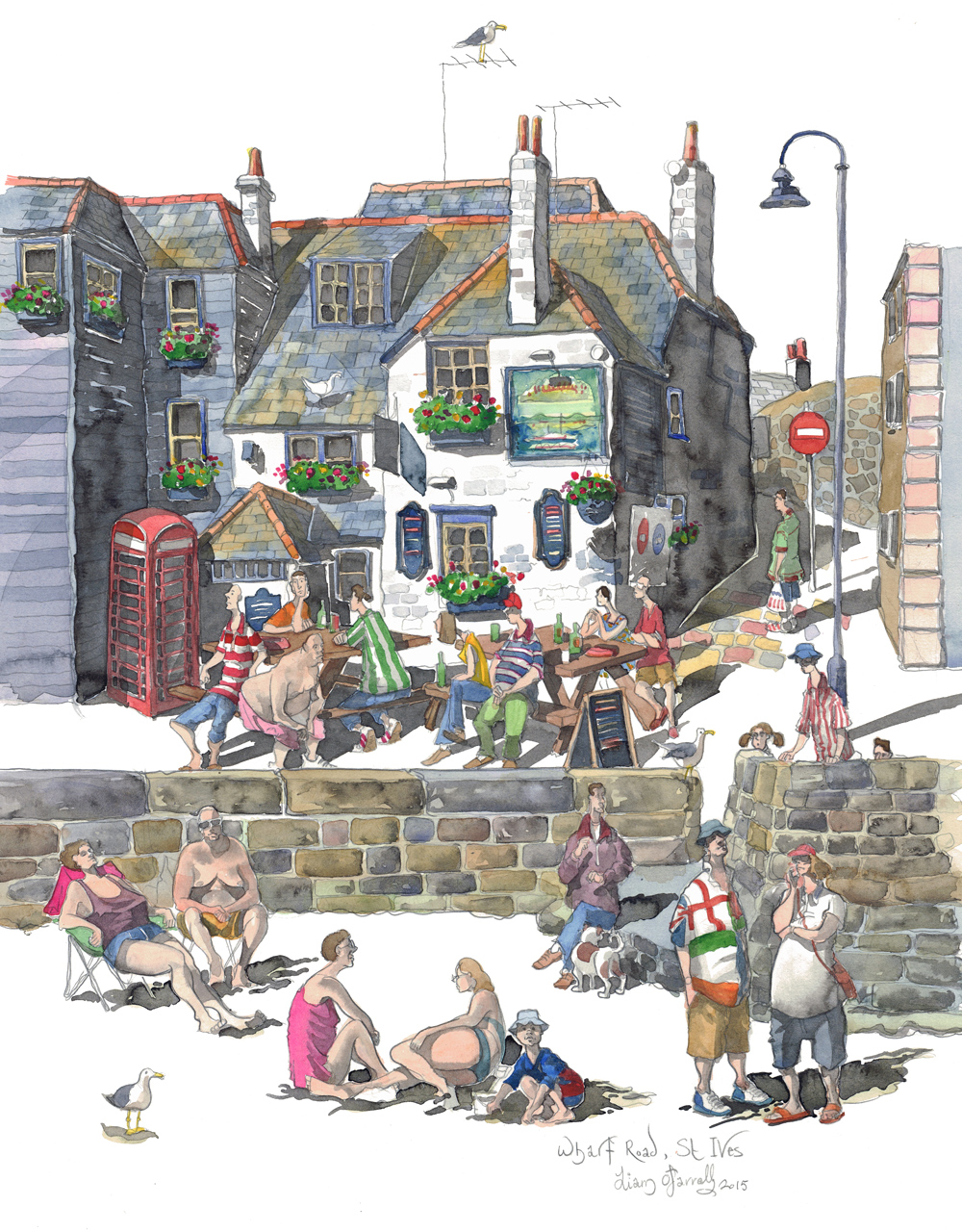 Limited edition print of the sloop inn st ives for The ives