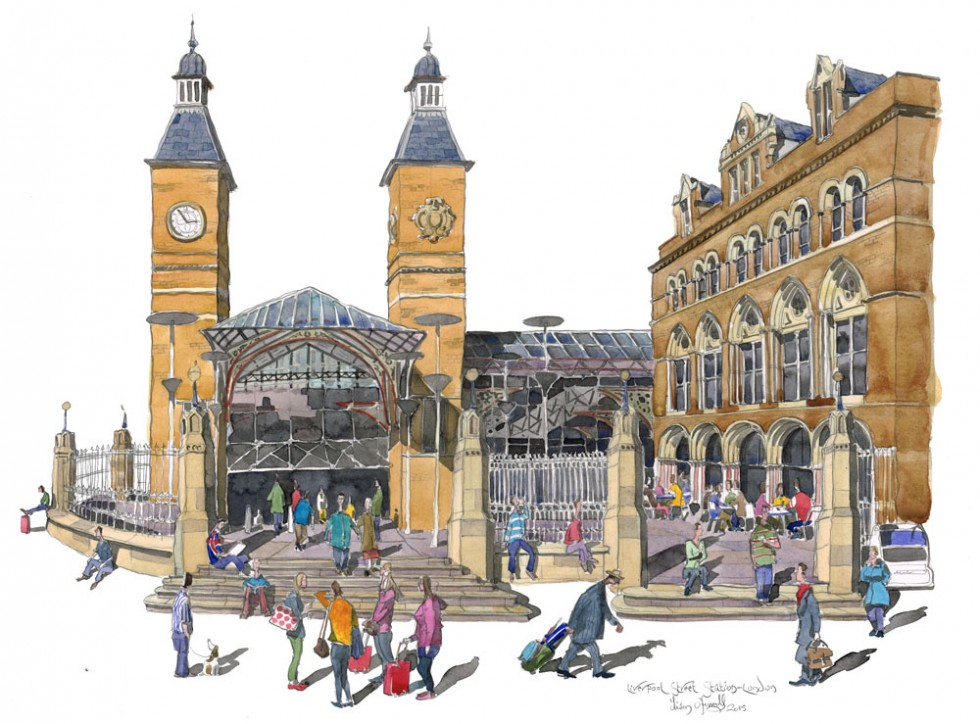final painting Liverpool street for blog