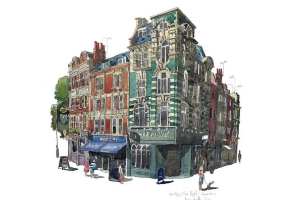 Painting of The Charing Cross Road