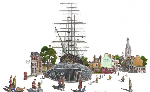 Painting of the Cutty Sark