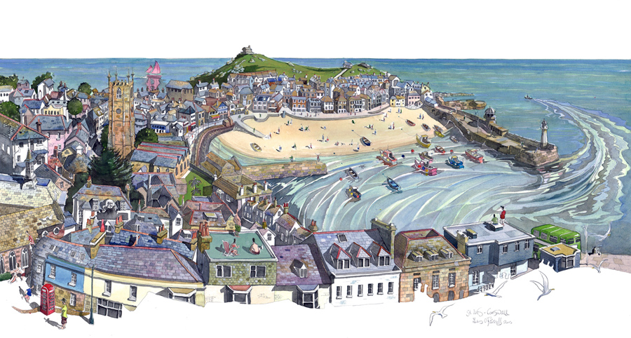 A painting of St Ives, Cornwall