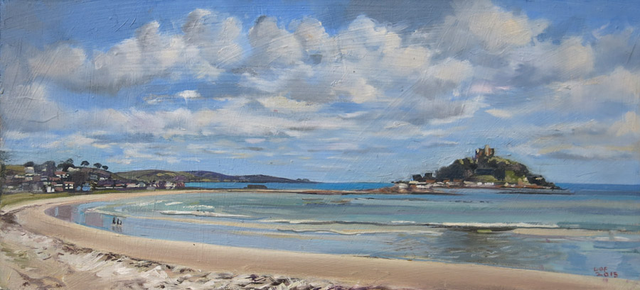 A paitning of st Michaels Mount, Cornwall