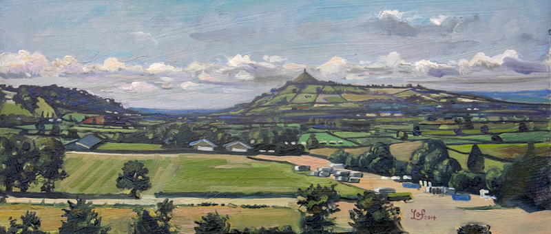 A painting of the Glastonbury Tor