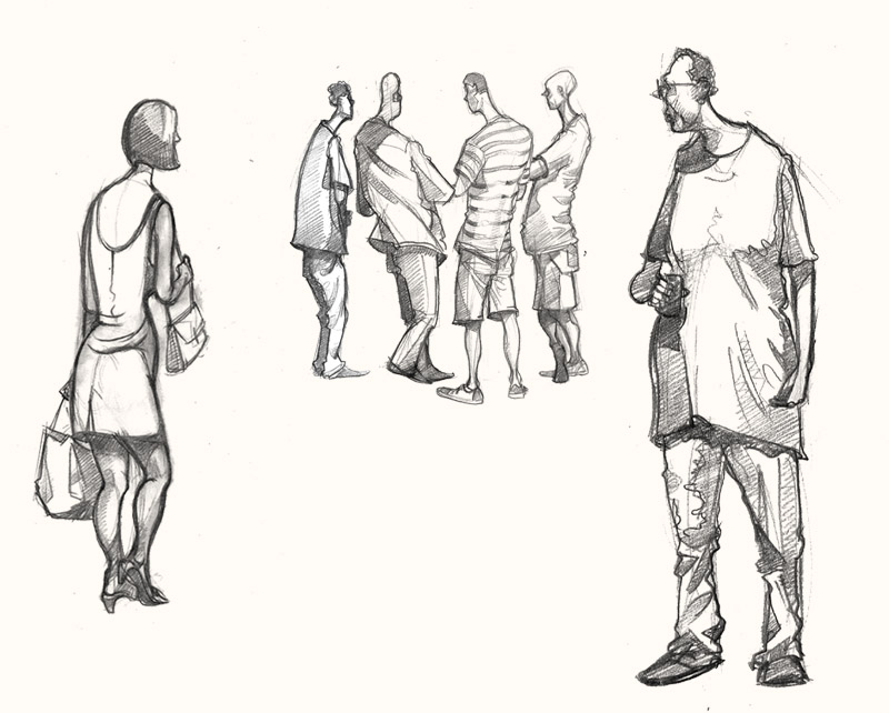 A drawing of People in Soho