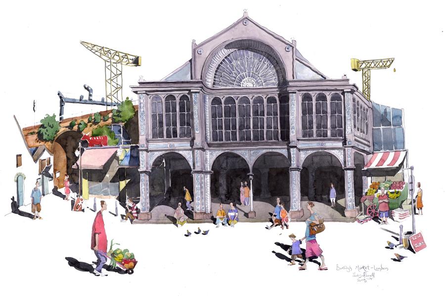 borough market painting