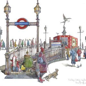 Painting of Piccadilly Circus London