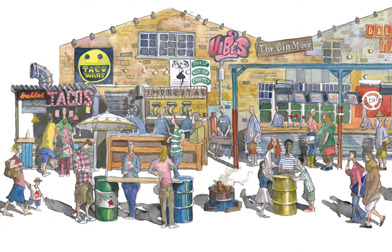 painting of Dalston Hackney, London 2