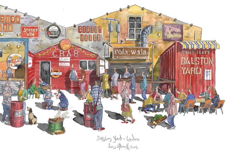 painting of Dalston Hackney, London
