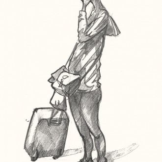 Drawing of a London Tourist