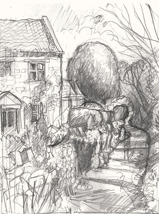 Ford lane Pilton drawing