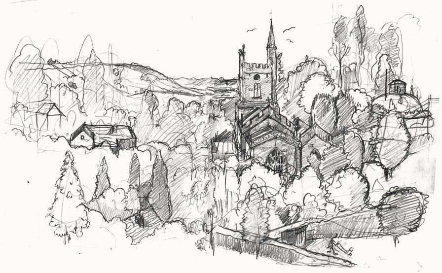 Pilton church 2 drawing