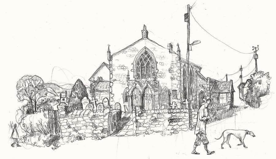 Pilton methodist church drawing