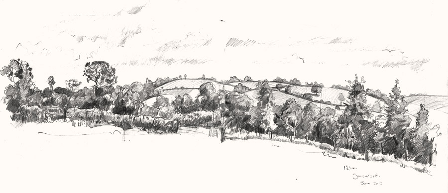 View from cockmill pilton drawing