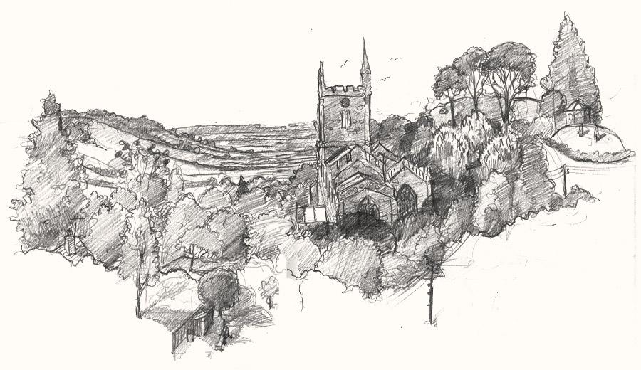 church pilton drawing
