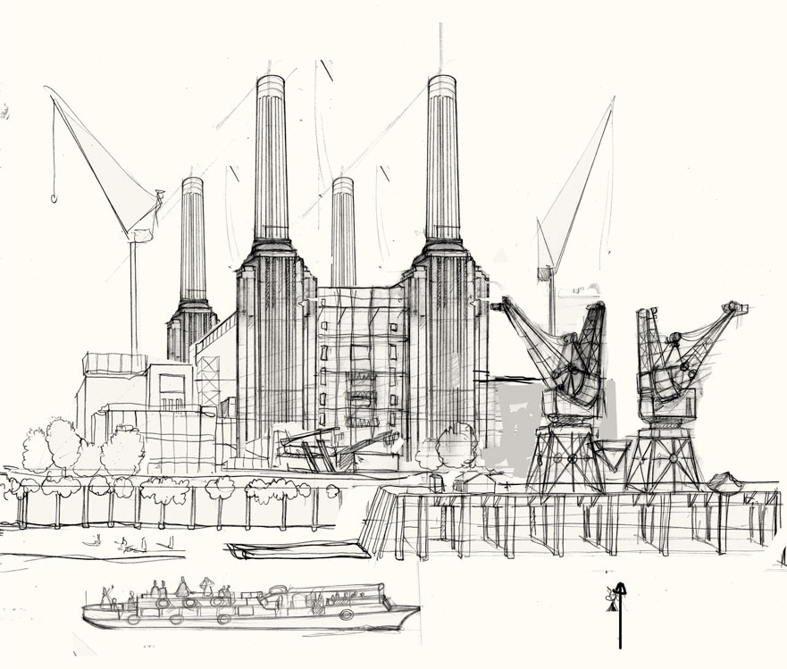 battersea power station drawing final