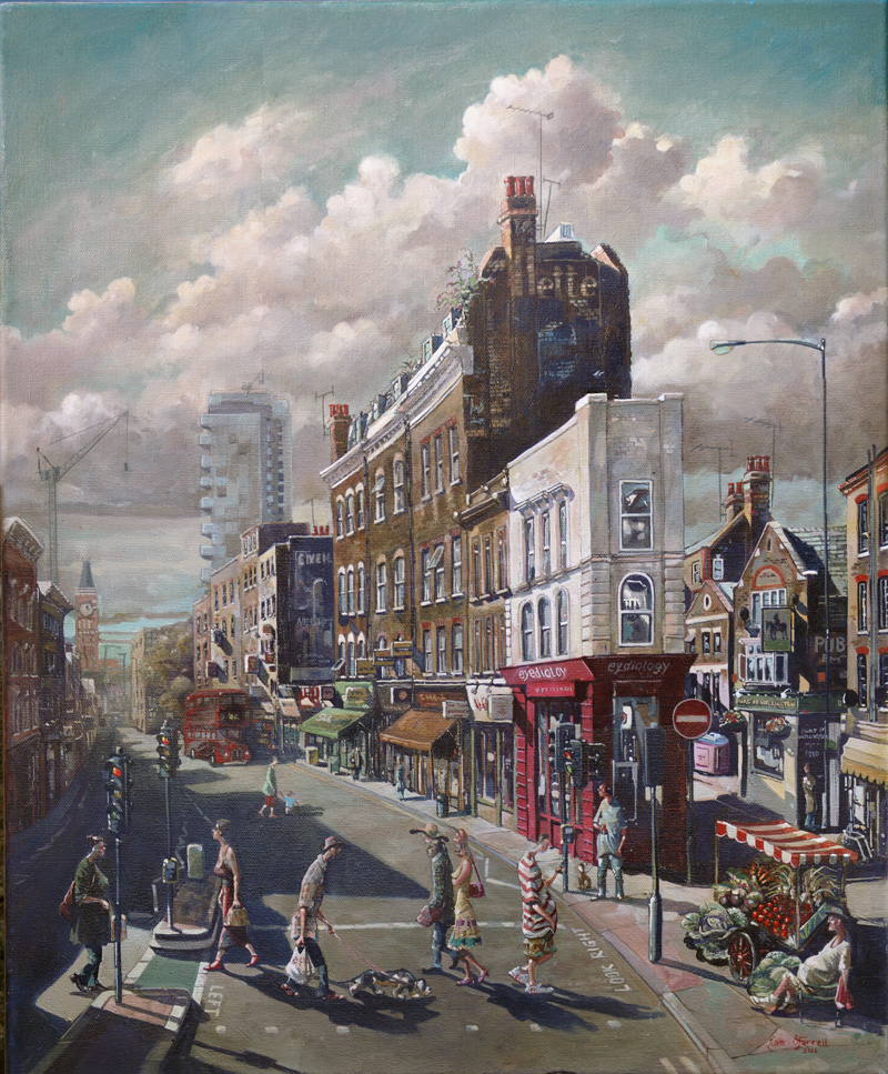 Painting of Spitalfields in London