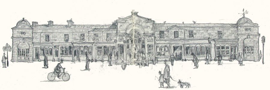 drawing of Paultney bridge bath