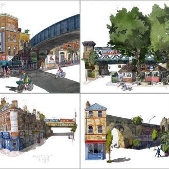 Paintings of Bridges of London