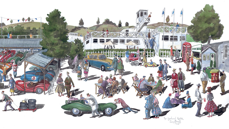 Goodwood revival painting a