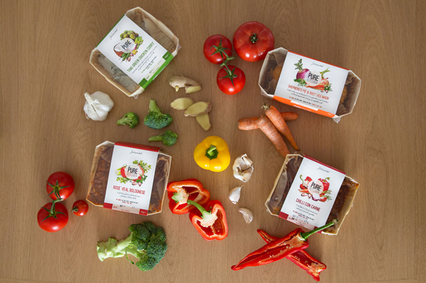 ready meal illustration packaging together