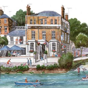 Painting of The White Cross, Richmond upon Thames