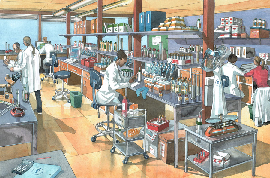 illustration of a laboratory