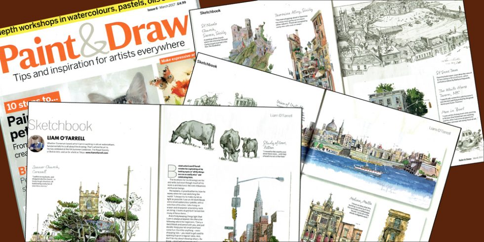 Draw & paint cover Liam O'Farrell