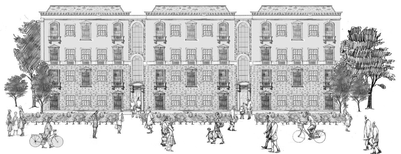 Woodside drawing of Architectural illustration