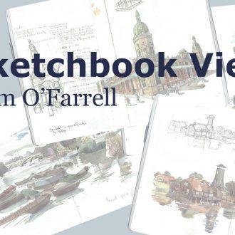 A sketchbook video of Liam ofarrell artist