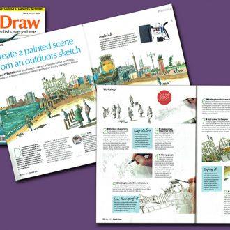 Spread of Paint & Draw magazine