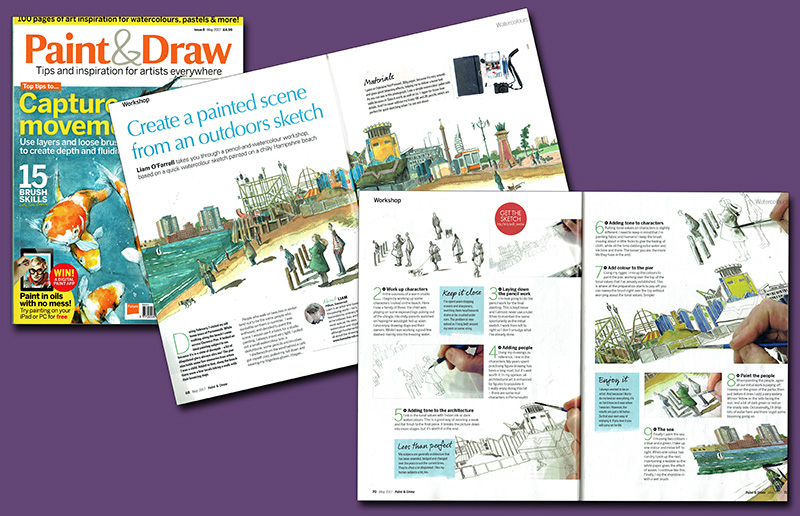 Spread of Paint & Draw magazine