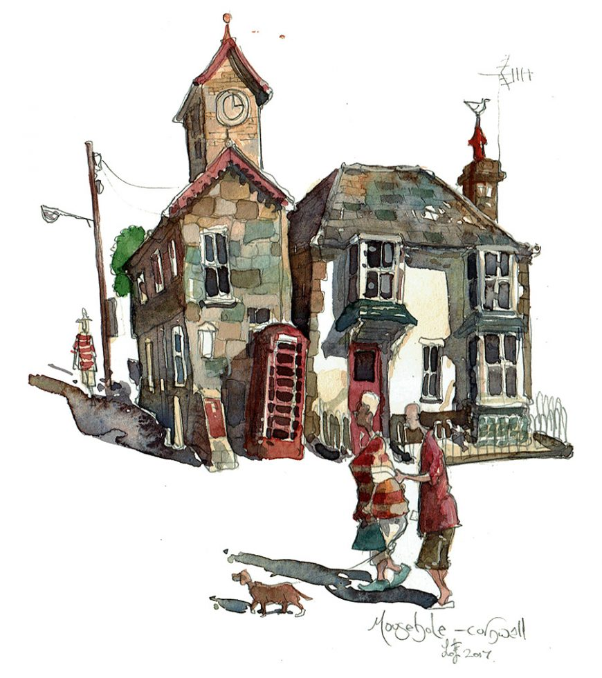 Painting of Mousehole Cornwall
