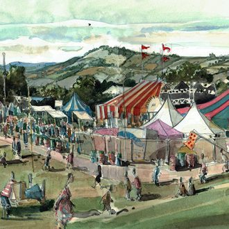 Park Stage Glastonbury painting