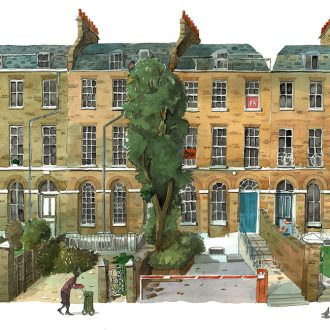 A painting of 80 Camberwell Road london