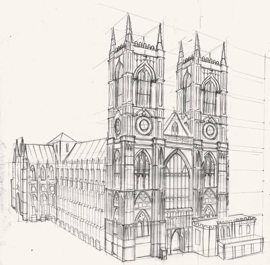 A drawing of Westminster Abbey