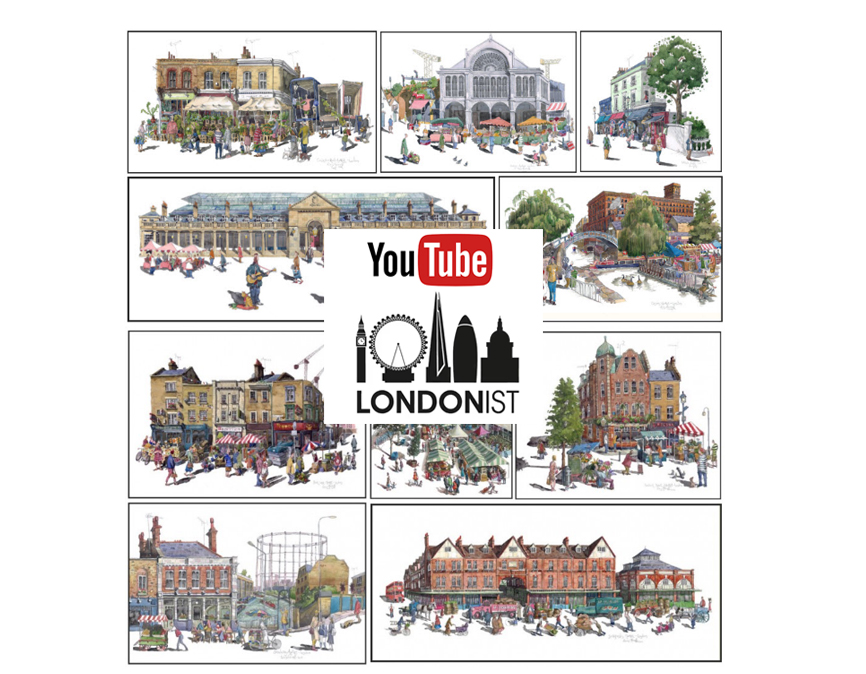 Lononist video on my London Market Paintings