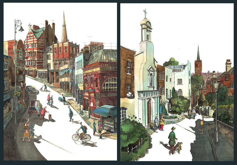 Paintings of Hampstead, London