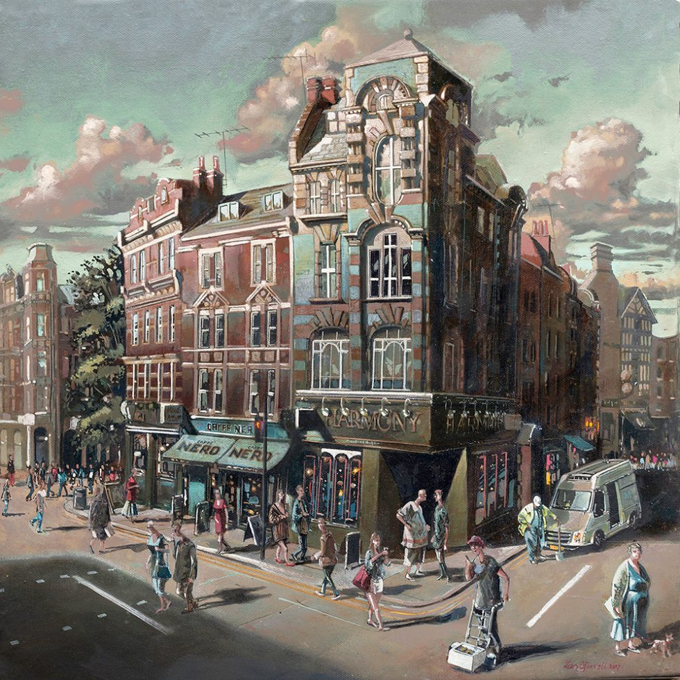 A painting of Charing Cross Road London