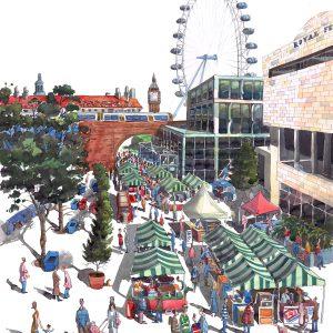 Real Food Market at the Southbank, London Royal Festival Hall