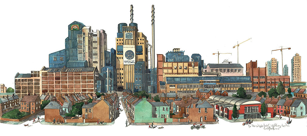 Painting of the Tate & Lyle Sugar factory London
