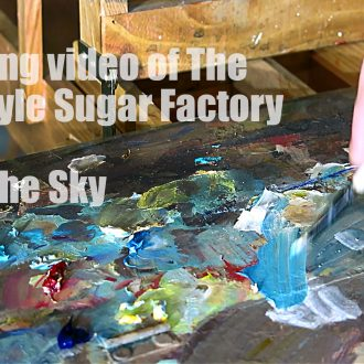 A Painting video of The Tate & Lyle Sugar Factory Part 1: The Sky