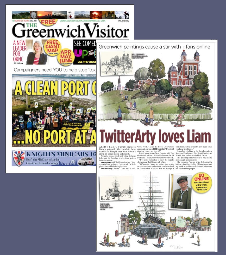 The Greenwich Visitor magazine did a feature on my paintings