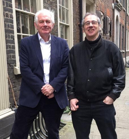 Dan Cruikshank with Henry Scott-Irvine