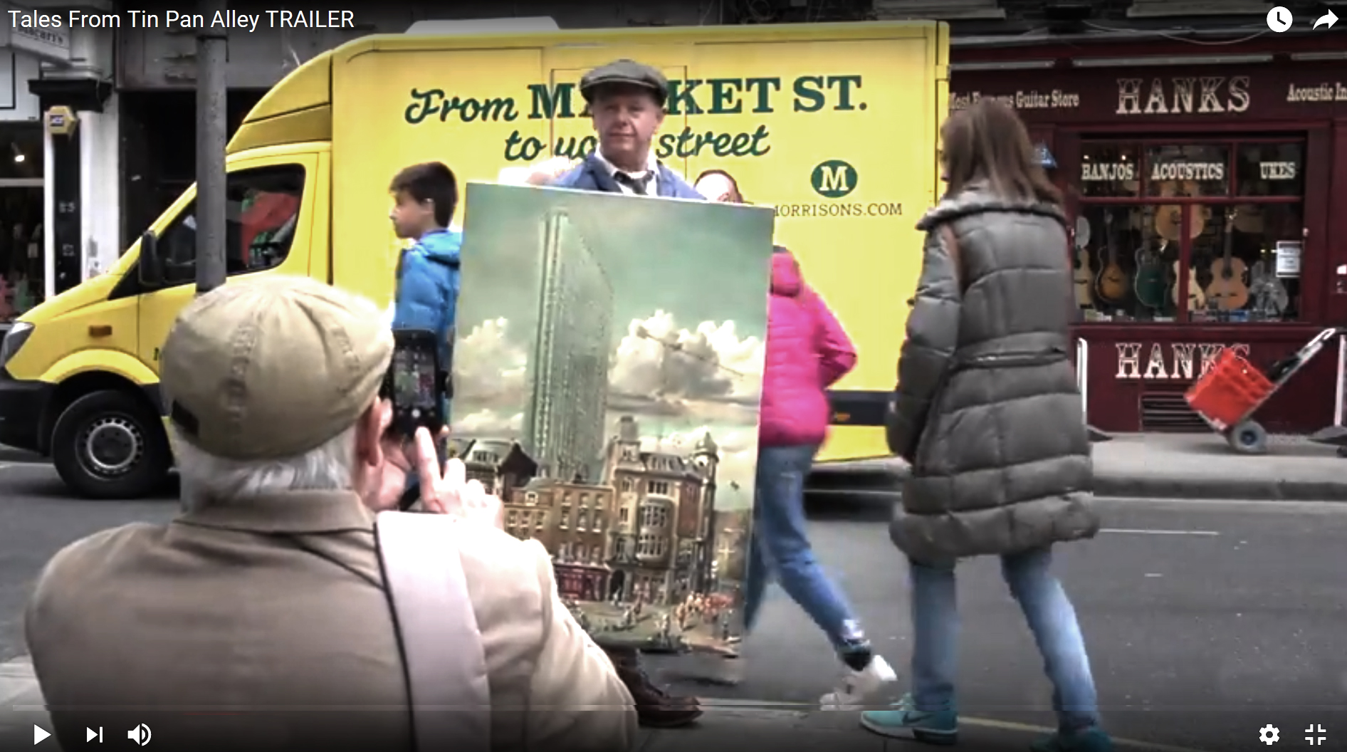 Liam O'Farrell with Denmark Street Painting
