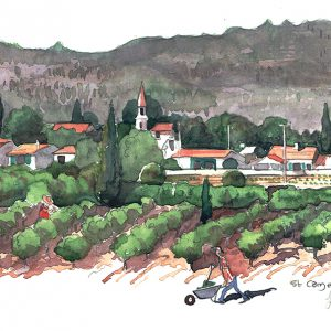 A painting of Saint Côme et Maruéjols