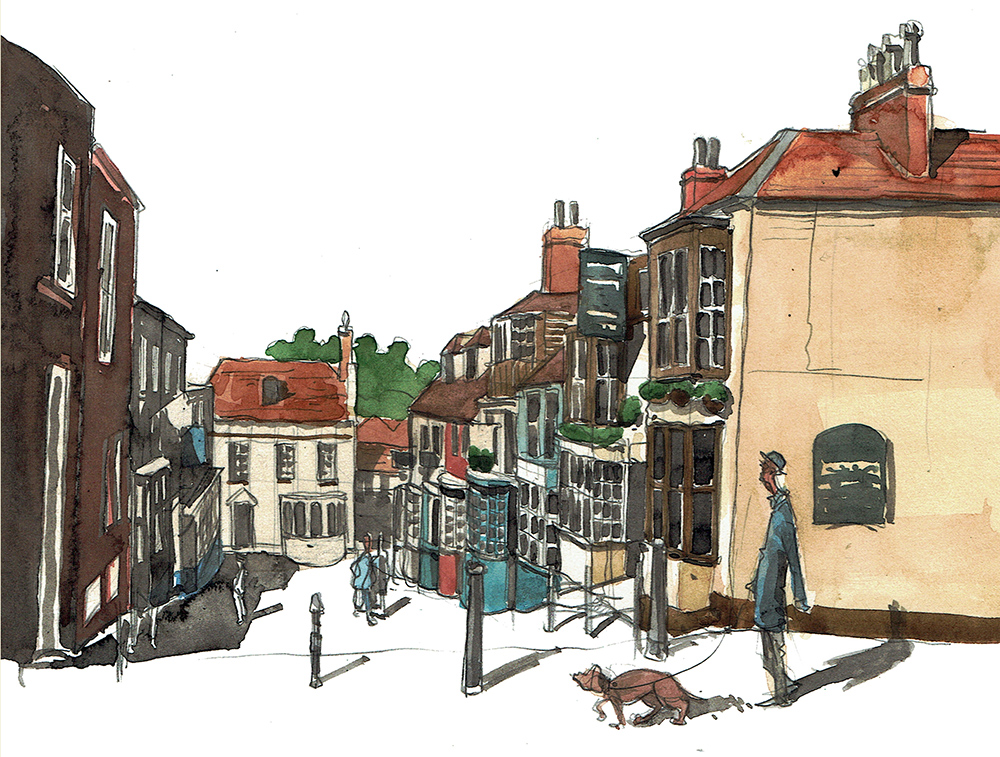 A painting of Kings head pub Lymington
