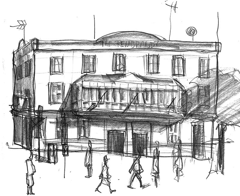Drawing of Manchester Rembrandt Pub