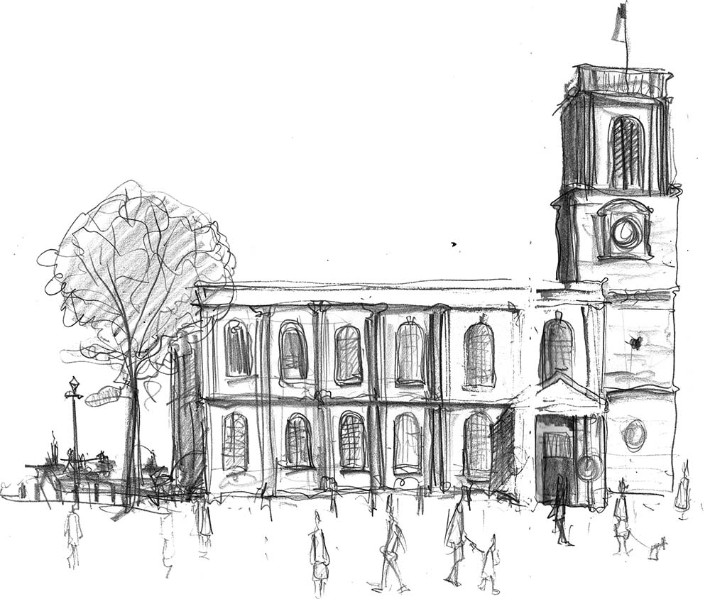Drawing of Manchester St Anns