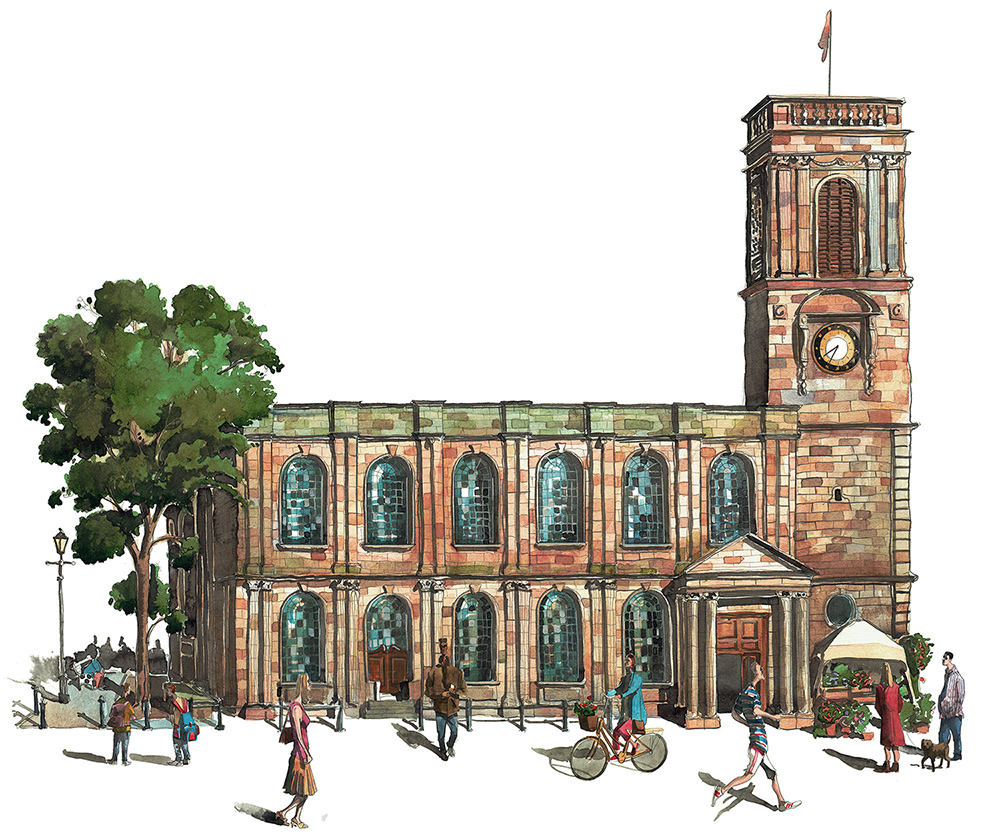 Painting of Manchester St Anns